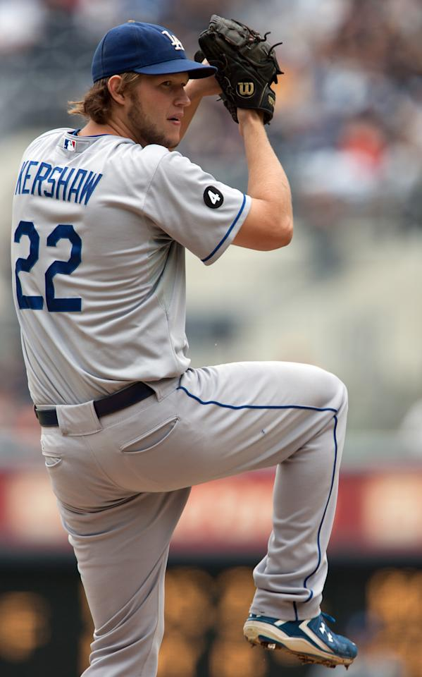 SAN DIEGO, CA - SEPTEMBER 25: Starting pitcher Clayton Kershaw #22 of the Los Angeles Dodgers throws the ball during the 1st inning of the game against the San Diego Padres at Petco Park on September 25, 2011 in San Diego, California. (Photo by Kent C. Horner/Getty Images)