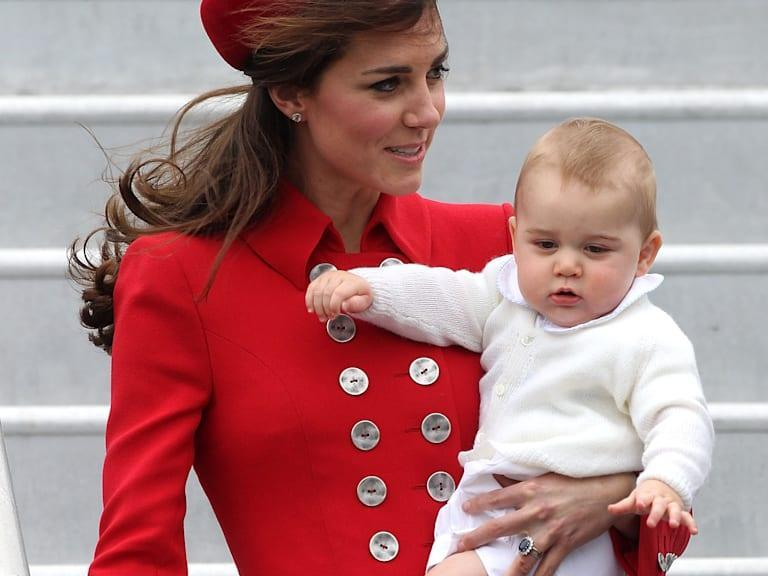 Prince George lands in New Zealand