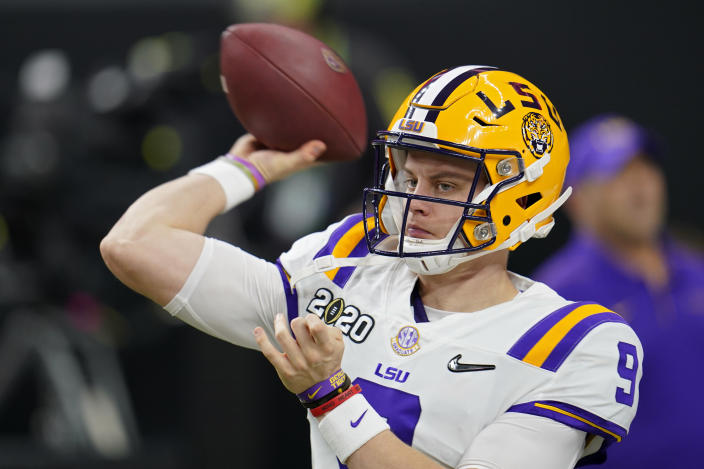 LSU quarterback Joe Burrow has been expected to be the first pick of the NFL draft for months. (AP Photo/David J. Phillip)