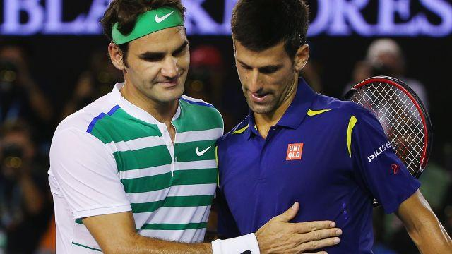 Federer and Djokovic. Image: Getty