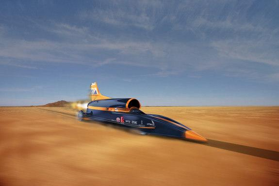 A concept image for the BLOODHOUND supersonic car being built to reach 1,000 mph.