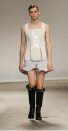 """<div class=""""caption-credit""""> Photo by: Stuart Wilson/Getty Images</div>My favorite part of over-the-top men's fashion has nothing to do with the clothing. It's all about the models' expressions. This JW Anderson model's face says it all: """"Great. The one time I wear this rubber white mini-dress, somebody's got to take my picture."""" <br> <br> Related: <br> <a href=""""http://bit.ly/10mKTDE"""" rel=""""nofollow noopener"""" target=""""_blank"""" data-ylk=""""slk:Yoko Ono's new men's line"""" class=""""link rapid-noclick-resp"""">Yoko Ono's new men's line</a> <br> <a href=""""http://shine.yahoo.com/fashion/mankinis-murses-and-man-bags-a-glossary-of-mens-fashion-terms-2550341.html"""" data-ylk=""""slk:Man skirts and more: fashion gender bends;outcm:mb_qualified_link;_E:mb_qualified_link;ct:story;"""" class=""""link rapid-noclick-resp yahoo-link"""">Man skirts and more: fashion gender bends</a> <br> <a href=""""http://yhoo.it/TPCxiM"""" rel=""""nofollow noopener"""" target=""""_blank"""" data-ylk=""""slk:Meggings: who's wearing them?"""" class=""""link rapid-noclick-resp"""">Meggings: who's wearing them?</a> <br>"""