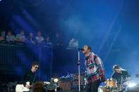 FILE PHOTO: Liam Gallagher performs on the Pyramid stage during Glastonbury Festival in Somerset