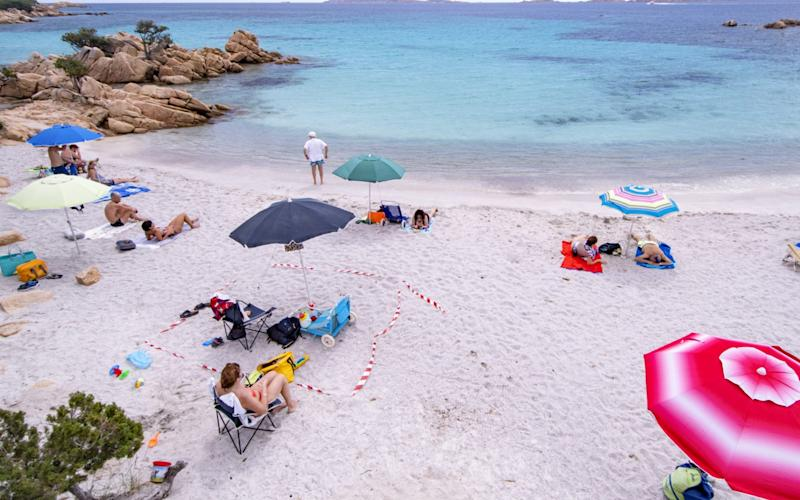 The group of tourists were aiming to spend time on the pristine beaches of Sardinia - Emanuele Perrone/Getty Images Europe