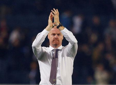 Football Soccer - Carabao Cup - Second Round - Blackburn Rovers vs Burnley - Blackburn, Britain - August 23, 2017   Burnley manager Sean Dyche applauds their fans after the match   Action Images via Reuters/Craig Brough
