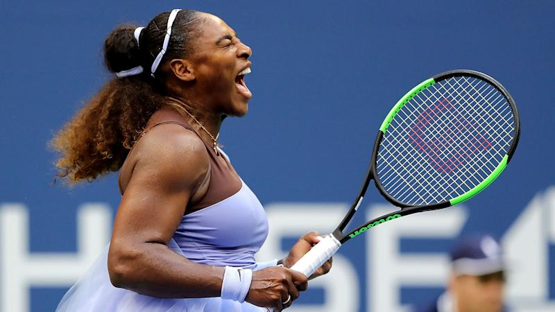 Serena screams in quarterfinals