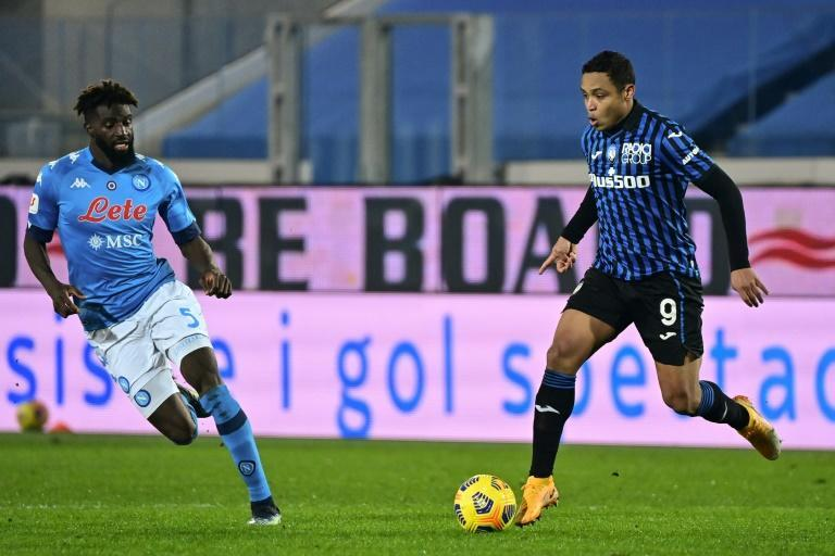 Atalanta's Colombian forward Luis Muriel (R) has scored 14 goals in all competitions this season.