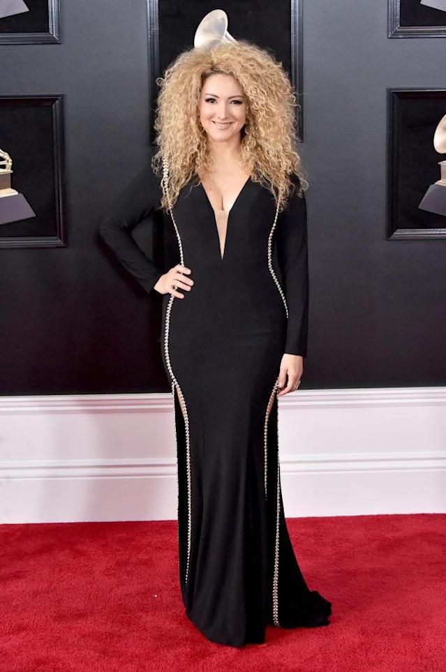 <p>Erika Ender attends the 60th Annual Grammy Awards at Madison Square Garden in New York on Jan. 28, 2018. (Photo: John Shearer/Getty Images) </p>