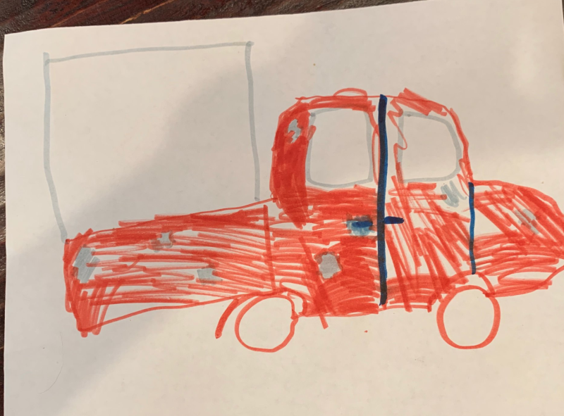 A nine-year-old girl provided police with a sketch of a suspected porch pirate's vehicle, and it may help them solve the case. (Photo: Springville Police Department)