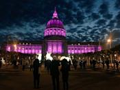 """<p>Edwin Lee, the mayor of San Fran, wrote, """"A legendary & prolific artist has passed. In his honor, we will shower City Hall in #PurpleRain tonight…Rest in Peace, @Prince!"""" <i>(Photo: Twitter)</i></p>"""
