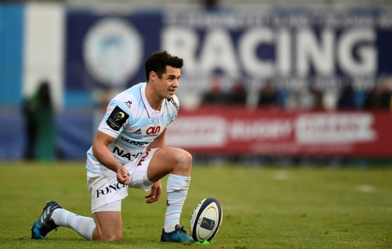 New Zealand fly-half Dan Carter in action for Racing 92 during a European Cup match against Glasgow Warriors in 2016