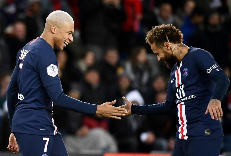 Kylian Mbappe and Neymar scored as PSG kept their seven-point lead at the summit of Ligue 1