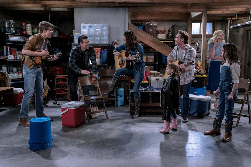 """<em><strong>Country Comfort</strong></em> (2021)<br><br>For those searching for a canned-laughter comedy, <em>Country Comfort</em> is exactly what the doctor ordered. After an aspiring country singer gets fired from her band, she's forced to take a job nannying five children for a local cowboy. Lucky for her, the kids seem to have some musical talent up their sleeves – her dreams might just come true after all. <br><br>Available 19th March<span class=""""copyright"""">Photo Courtesy of Netflix.</span>"""