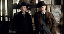 <ul> <li><strong>What to wear for Sherlock:</strong> Black hat, heavy black coat, off-white dress shirt, and an ascot. Bring some props, like a magnifying glass.</li> <li><strong>What to wear for Watson:</strong> Brown hat, brown coat, gray dress vest with a pocket watch, white dress shirt, and a dark tie underneath. A mustache is a must.</li> </ul>