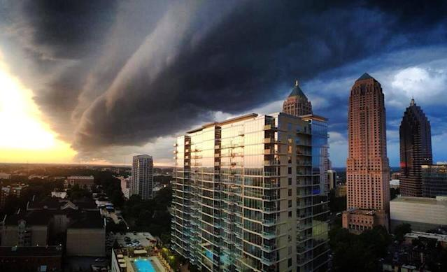 Dramatic view of Atlanta, Georgia from the Loews hotel. (Facebook)