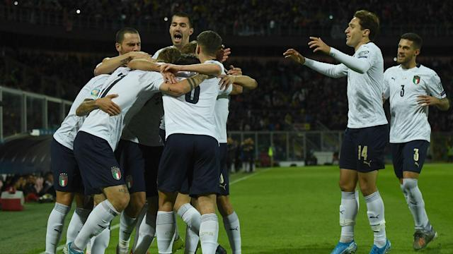 Roberto Mancini's side wrapped up a perfect qualifying campaign in style, re-writing the record books in the process