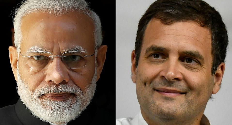 Prime Minister Narendra Modi (left) and Congress leader Rahul Gandhi. Photos: Tolga Akmen and Punit Paranjpe / AFP via Getty Images