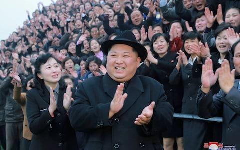 <span>North Korean leader Kim Jong Un reacts as people applaud during his visit to the newly-remodeled Pyongyang Teacher Training College, in this photo released by North Korea's Korean Central News Agency (KCNA) in Pyongyang on January 17</span> <span>Credit: KCNA/REUTERS </span>