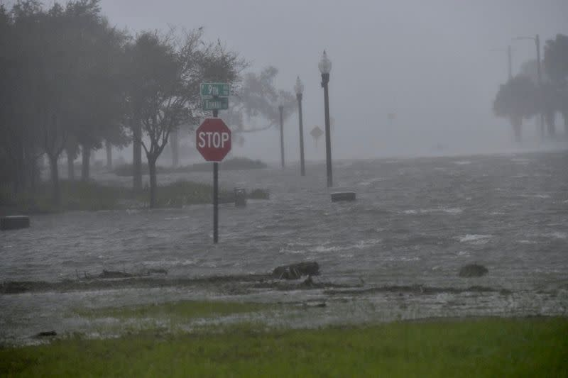 FILE PHOTO: Flooding due to Hurricane Sally is seen in Pensacola