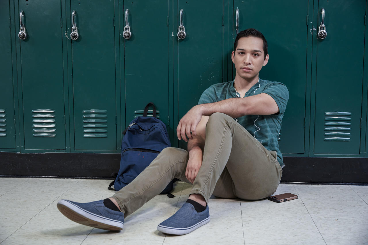 <p>Jorge, who is openly gay, works to raise awareness about the need for more support and services for LGBTQ kids in schools. (Photo: Mark Hill/A&E) </p>
