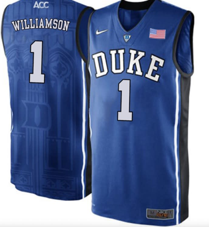 Zion Williamson Duke Blue Devils Authentic College Basketball Jersey