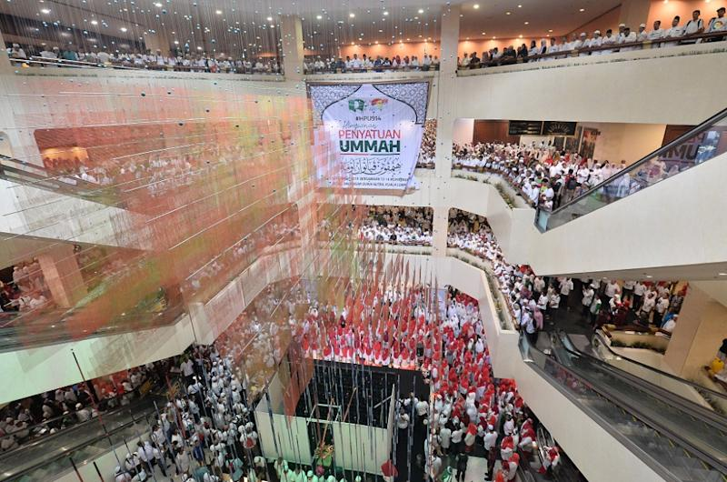 PAS and Umno supporters attend the Himpunan Penyatuan Ummah at Putra World Trade Centre in Kuala Lumpur September 14, 2019. — Picture by Miera Zulyana
