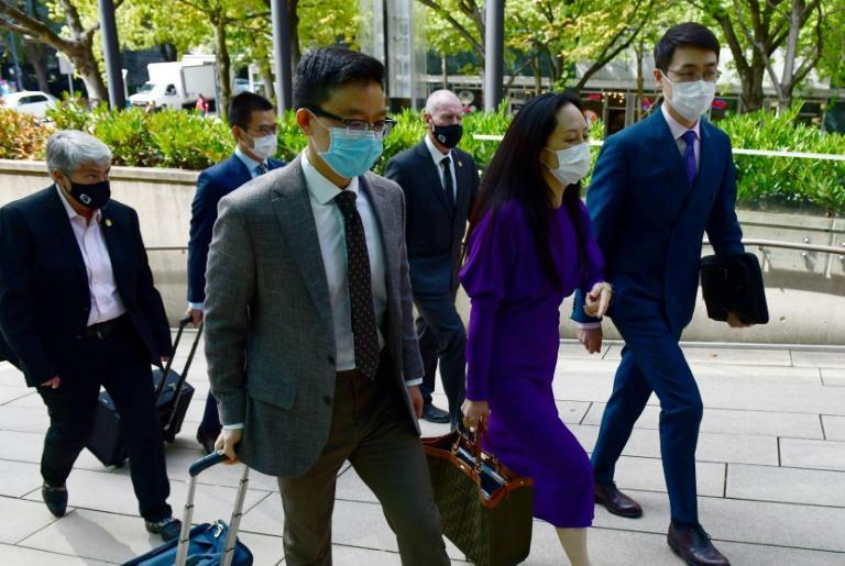 Huawei Chief Financial Officer Meng Wanzhou returns to British Columbia Supreme Court on August 18, 2021, in Vancouver, Canada