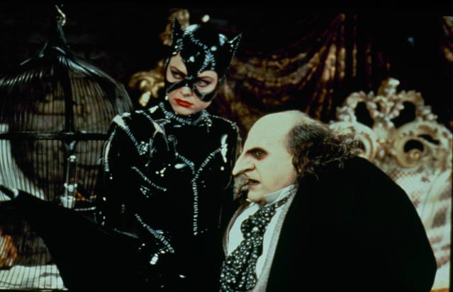 UNITED STATES - 1992: Michelle Pfeiffer as Catwoman and Danny DeVito as the Penguin in the film 'Batman Returns'. (Photo by The LIFE Picture Collection via Getty Images)