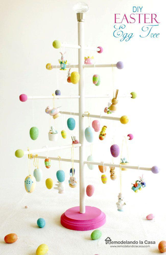 """<p>For a twist on the traditional Easter tree, use dowel rods to create a charming tree-like display you and reuse year after year. </p><p><strong>Get the tutorial at <a href=""""http://www.remodelandolacasa.com/2015/03/eairx.html"""" rel=""""nofollow noopener"""" target=""""_blank"""" data-ylk=""""slk:RemodelaCasa."""" class=""""link rapid-noclick-resp"""">RemodelaCasa.</a></strong></p><p><a class=""""link rapid-noclick-resp"""" href=""""https://www.amazon.com/Wooden-Unfinished-Hardwood-Sticks-Straight/dp/B017Y25R40/ref=sr_1_6?tag=syn-yahoo-20&ascsubtag=%5Bartid%7C10050.g.26498744%5Bsrc%7Cyahoo-us"""" rel=""""nofollow noopener"""" target=""""_blank"""" data-ylk=""""slk:SHOP WOOD DOWELS"""">SHOP WOOD DOWELS</a></p>"""