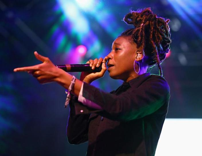 Little Simz was one of the bookies' favourites this year (AFP Photo/Rich Fury)