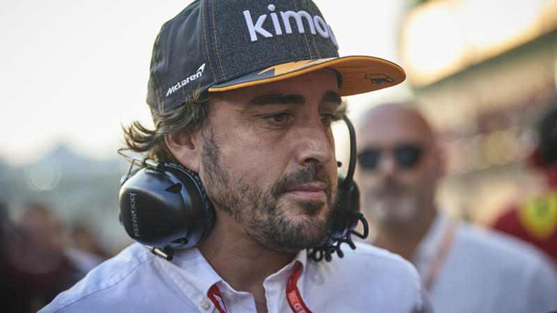 Former f1 champion Fernando Alonso is pictured.