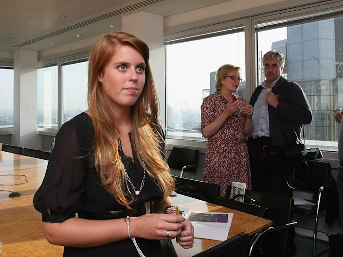 Princess Beatrice in an office.