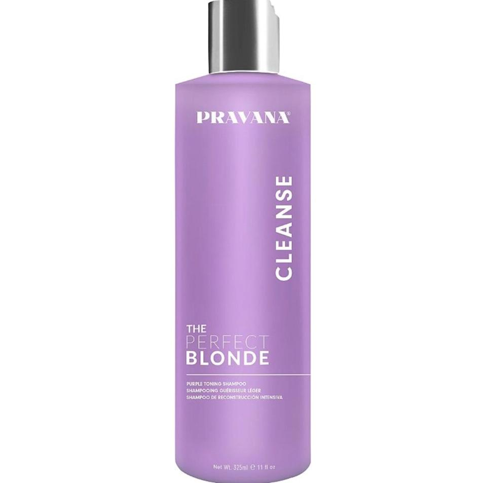 <p>With this <span>Pravana The Perfect Blonde Shampoo</span> ($20), keep your hair the color you love and as healthy as ever. Made with added keratin, wheat, and silk amino acids, you get a hair pick-me-up.</p>