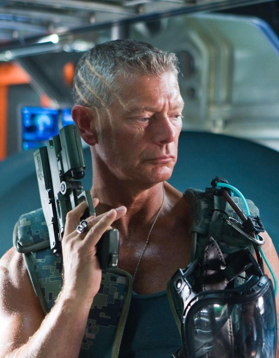 <p>Stephen Lang plays the bad guy in James Cameron's 2009 space war film with relish. He's a man who looks, talks, and carries himself like he always has a cigar in his mouth. Quaritch takes actual joy in destroying the resources of Pandora, and nobody on any planet can rival him when it comes to operating gigantic robot gunners.</p>