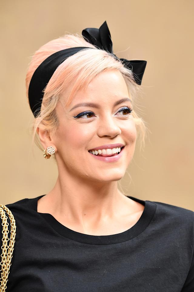 Lily Allen has fired back at a troll who shared a very explicit photo of her. (Photo: Getty)