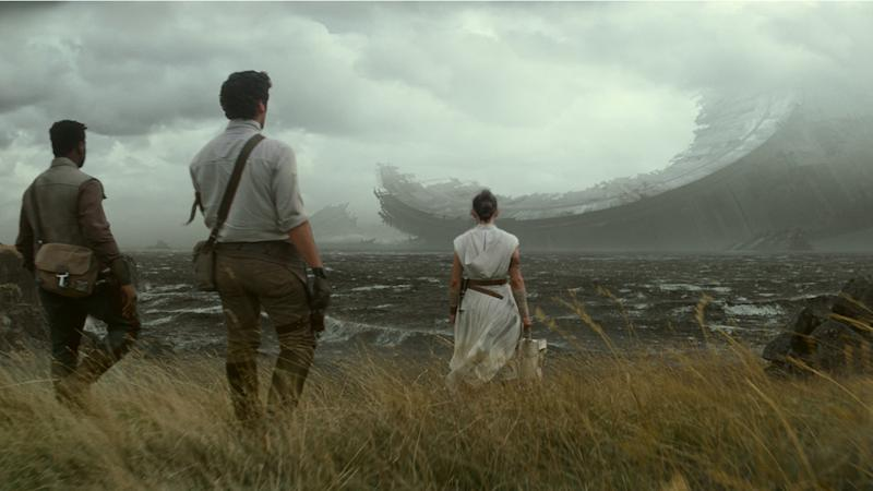 Is this the wreckage of the Death Star in the Star Wars: The Rise of Skywalker trailer?