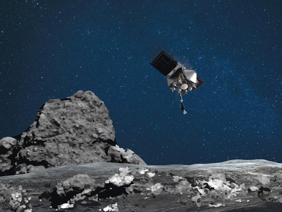 osiris rex asteroid bennu touch and go sample collection