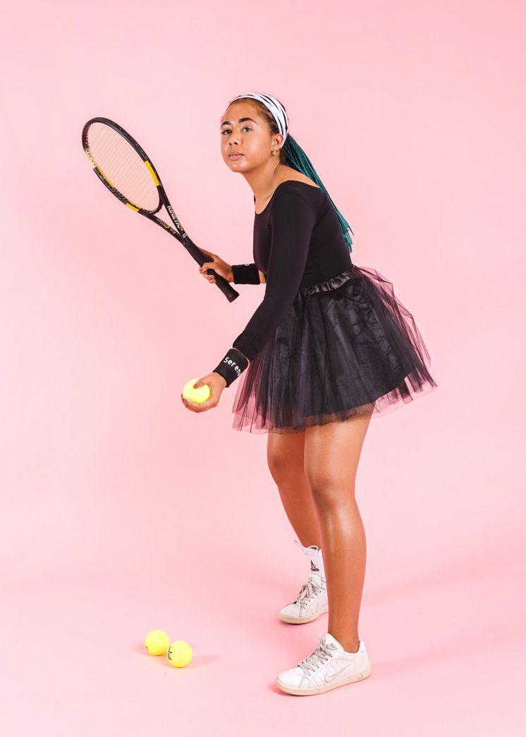 """<p>To really bring your A-game this Halloween, dress up as legendary tennis pro Serena Williams in her famous black tutu, which instantly became iconic when she wore it <a href=""""https://time.com/5380389/serena-williams-tutu/"""" rel=""""nofollow noopener"""" target=""""_blank"""" data-ylk=""""slk:at the U.S. Open in 2018"""" class=""""link rapid-noclick-resp"""">at the U.S. Open in 2018</a>. <br></p><p><em><a href=""""https://thehousethatlarsbuilt.com/2018/09/influential-women-halloween-costumes.html/"""" rel=""""nofollow noopener"""" target=""""_blank"""" data-ylk=""""slk:Get the tutorial at The House That Lars Built »"""" class=""""link rapid-noclick-resp"""">Get the tutorial at The House That Lars Built »</a></em></p>"""