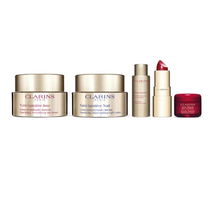 "$275, Nordstrom. <a href=""https://www.nordstrom.com/s/clarins-nutri-lumiere-luxury-set-usd-366-value/5728237?origin=category-personalizedsort&breadcrumb=Home%2FSale%2FBeauty&color=none"" rel=""nofollow noopener"" target=""_blank"" data-ylk=""slk:Get it now!"" class=""link rapid-noclick-resp"">Get it now!</a>"