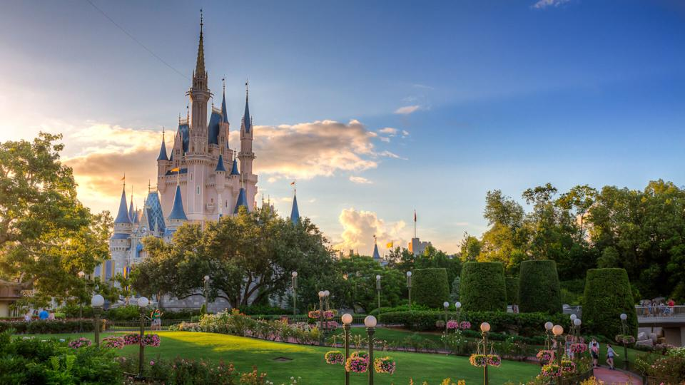 Cinderella Castle photographed in the morning