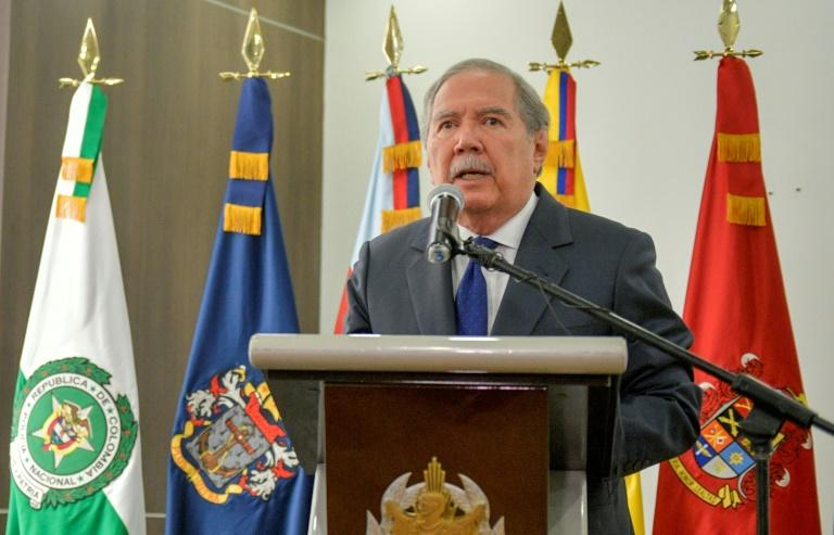 Colombian Defence Minister Guillermo Botero, pictured in September 2019, announced his resignation after meeting with the country's president