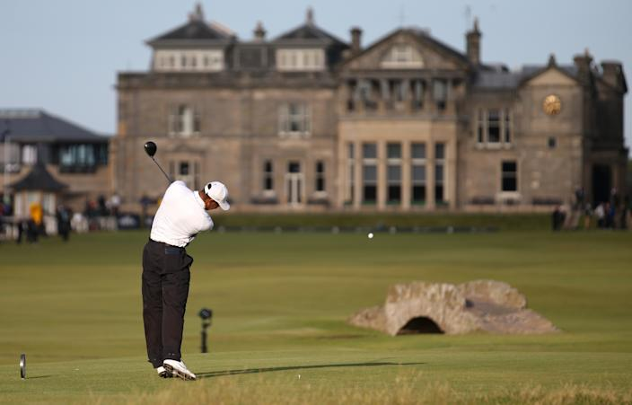 Tiger Woods in 2015 at St. Andrews.
