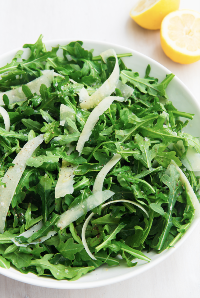 "<p>This salad is the epitome of simple.</p><p>Get the recipe from <a href=""https://www.delish.com/cooking/recipe-ideas/a20153927/arugula-salad-recipe/"" target=""_blank"">Delish.</a></p>"