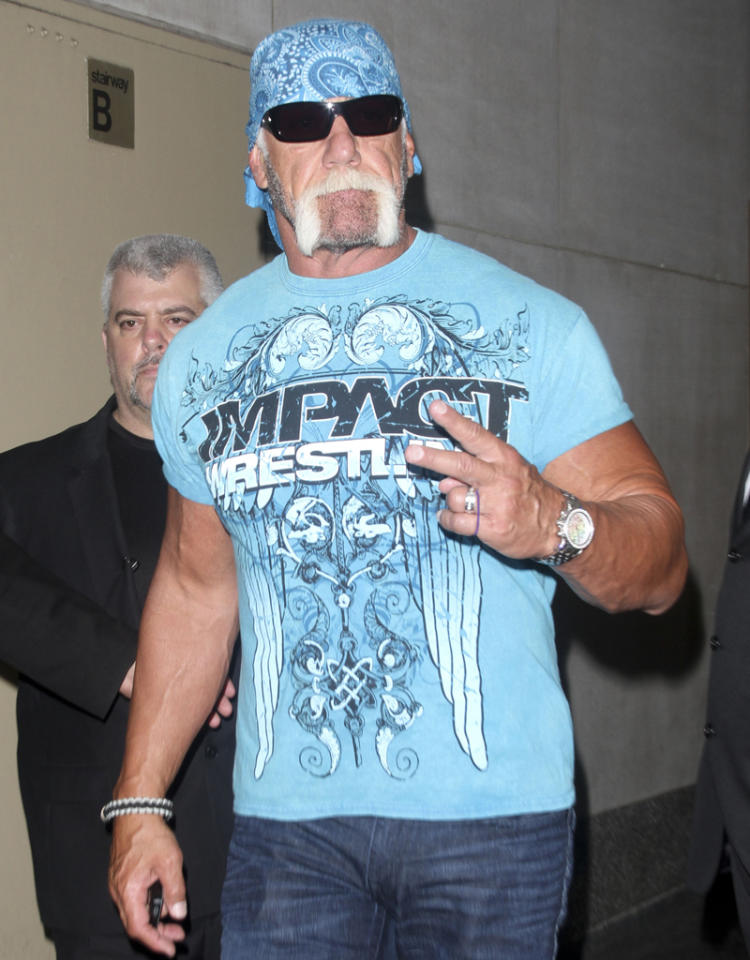 Hulk Hogan leaving the 'Good Morning America' studios in NYC.