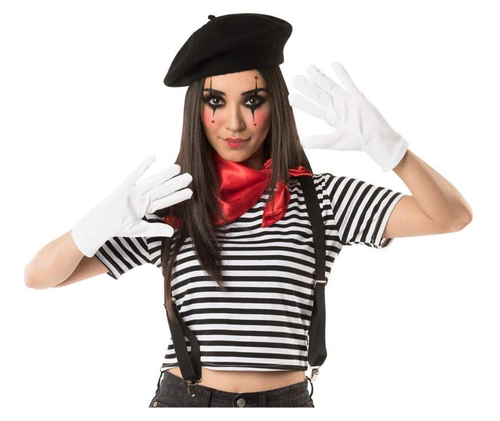 Mime Costume Accessory Kit. Photo via Party City
