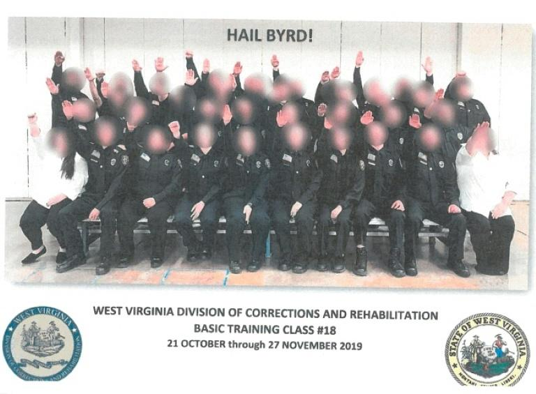 West Virginia governor fires 34 prison guard trainees who gave Nazi salute