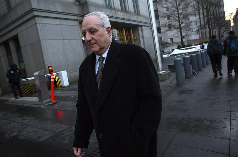 Daniel Bonventre exits the Manhattan Federal Courthouse in New York