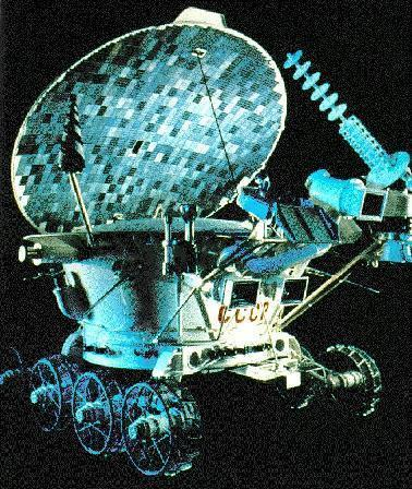 The Soviet Union's remote-controlled Lunokhod 2 moon rover traveled 23 miles (37 kilometers) across the lunar surface in 1973 — still the record for greatest distance traveled on the surface of another world.