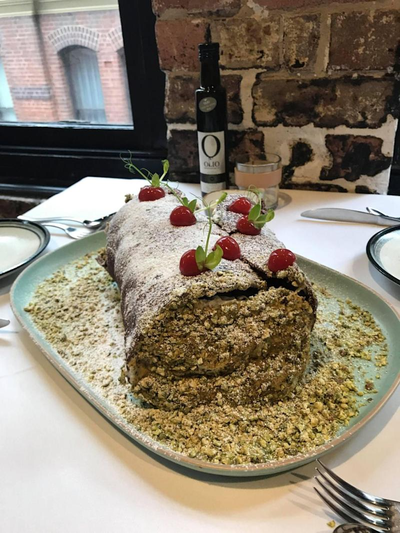 Is this the biggest cannoli you've ever seen? Photo: Be
