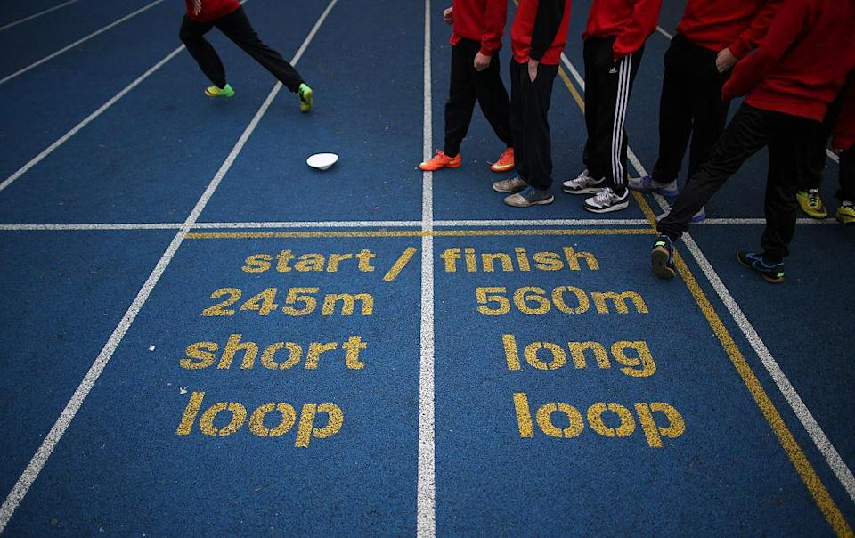 This is a stock photo of a high school track. You do not want a stock photo of anything else from this article. (Getty)